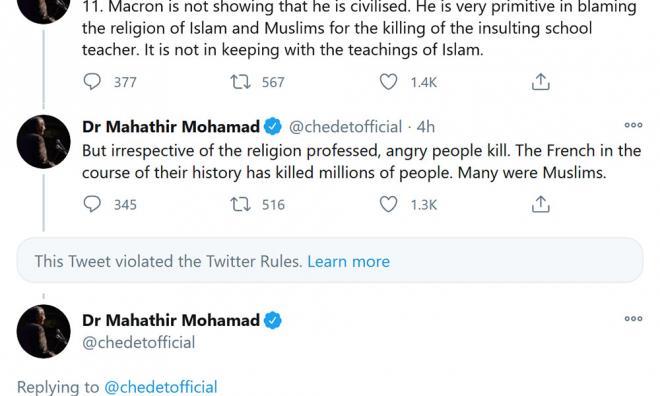 Malaisie : après les propos d'Emmanuel Macron sur l'islam, un ex-Premier ministre charge les français