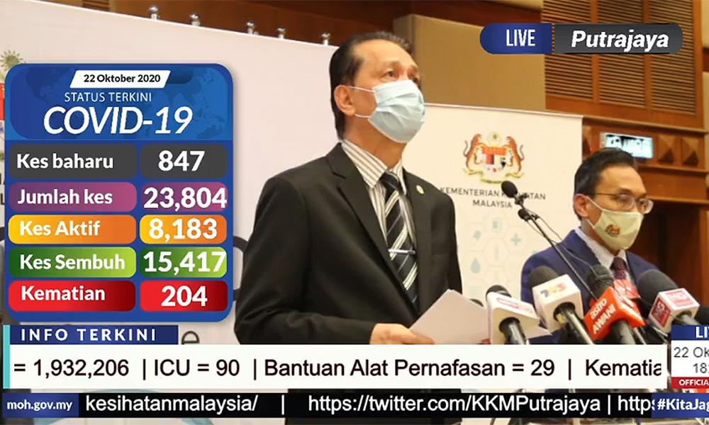 Malaysiakini Covid 19 Oct 22 847 New Cases Spike In Negeri Sembilan Labuan